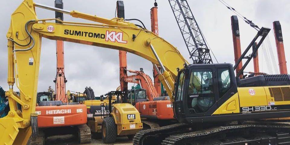 excavator rental supplier singapore